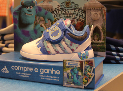 Monsters University in Store and Adidas