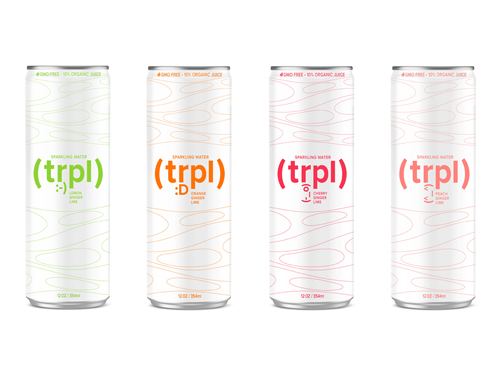 Brand, Visual Identity and Packages for TRPL Sparkling Water